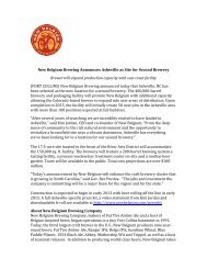 New Belgium Brewing Announces Asheville as Site for Second ...