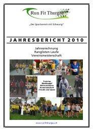 J A H R E S B E R I C H T  2 0 1 0 - Runfit Thurgau
