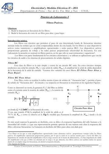 Práctico de Laboratorio N° 5 Resonancia en un Circuito Serie RLC.