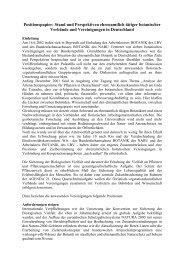 Stand und Perspektiven ehrenamtlich tätiger botanischer Verbände ...