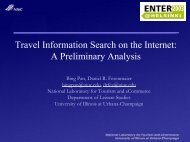 Travel Information Search on the Internet: A Preliminary ... - IFITT