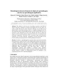 Metodologia de desenvolvimento de objetos de aprendizagem com ...