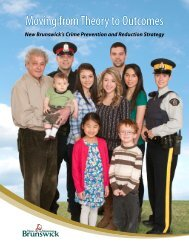 Moving from Theory to Outcomes - Government of New Brunswick