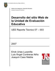 Desarrollo del sitio Web de la Unidad de Evaluación ... - UEE UABC