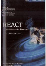 react - NIE Digital Repository - National Institute of Education