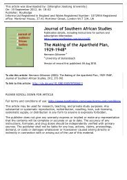 The Making of the Apartheid Plan, 1929-1948* - CC