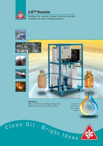 DESORBER BROCHURE solutions for removal of water ... - Cjc.dk
