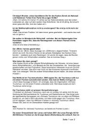 Interview Walliser Bote - Christoph Blocher