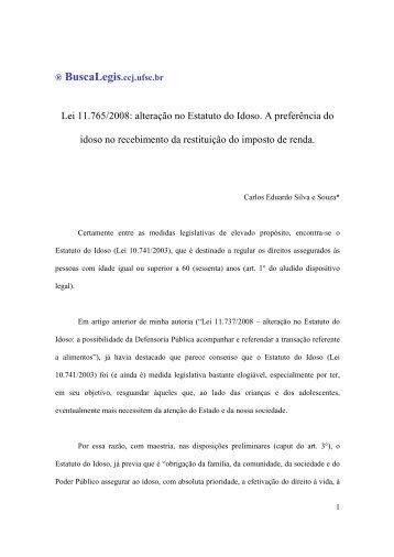 Lei 11.765/2008: alteração no Estatuto do Idoso. A preferência do ...