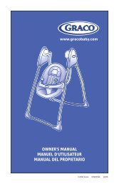 owner's manual manuel d'utilisateur manual del propietario - Graco