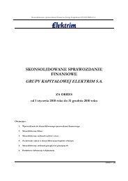 skonsolidowane sprawozdanie finansowe grupy ... - Elektrim S.A.