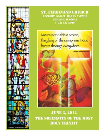 st. ferdinand church june 3, 2012 the solemnity of the most holy trinity
