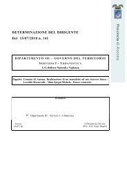 DETERMINAZIONE DEL DIRIGENTE Del 15/07/2010 n. 141
