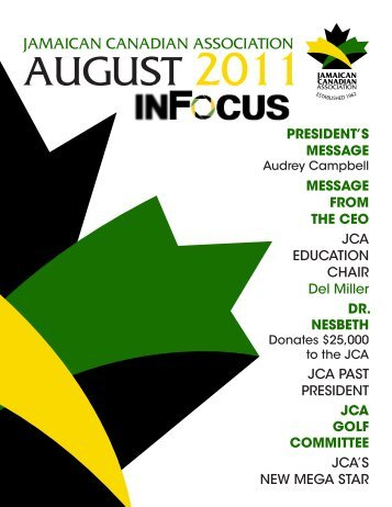 August 2011 - Jamaican Canadian Association