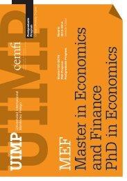 M EF M aster in E conom ics and F in ance Ph D in E conom ... - Cemfi