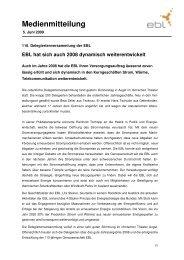 Pressemitteilung EBL - Steiner, Urs