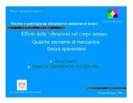 Effetti delle vibrazioni sul corpo umano - Dimeca - Università degli ...