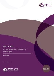 ITIL® is ITIL White Paper (PDF - 291Kb) - Best Management Practice