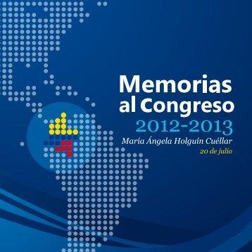 2012-2013 - Ministerio de Relaciones Exteriores