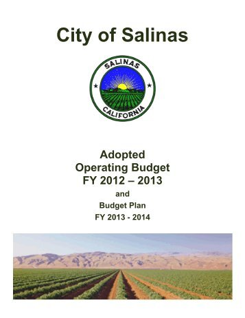 FY 2012-13 Adopted Operating Budget Document - City of Salinas