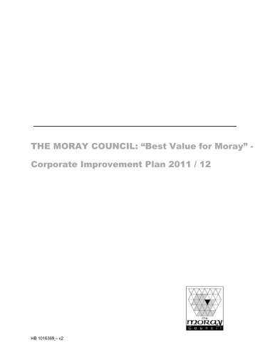 "THE MORAY COUNCIL: ""Best Value for Moray"" - Corporate ..."
