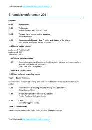 E-handelskonferencen 2011 - FDIH