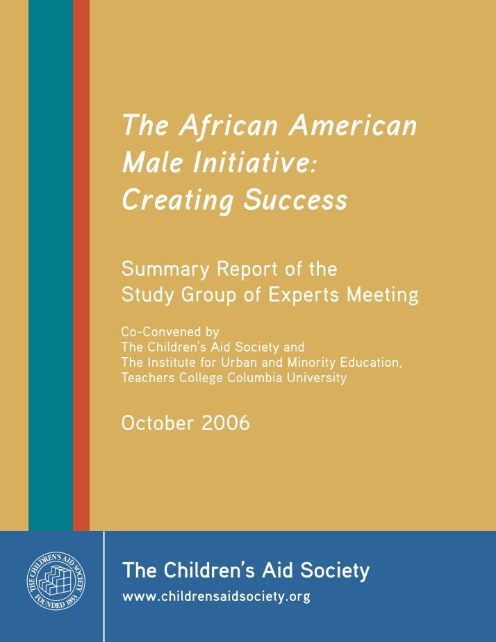 perception of the african american males essay The relationship between skin complexion and social outcomes: how colorism affects the lives of african- american women (2013) etd collection for auc robert w woodruff library.