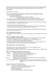 Protokoll 24. Oktober 2008 - Arbeitsgruppe der Koordinator(inn)en ...