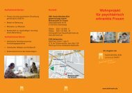 Flyer SBK-Wohnprojekt für Frauen - Sozial-Betriebe-Köln