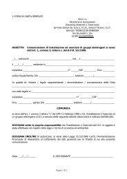 Comunicazione di installazione - Portale Ambiente della Provincia ...