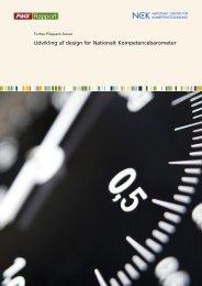 Udvikling af design for Nationalt Kompetencebarometer - NCK