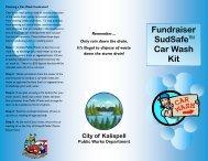 Fundraiser Car Wash Kit Brochure - City of Kalispell