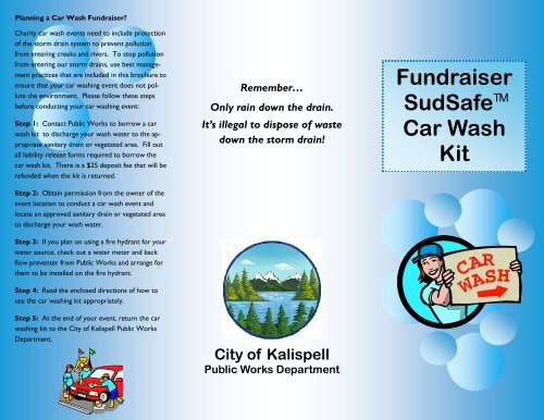 City Of Kalispell >> Fundraiser Car Wash Kit Brochure City Of Kalispell
