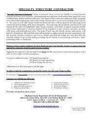 Specialty Structure Contractor - Okaloosa County