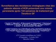 Surveillance des résistances virologiques chez des patients ... - Afef