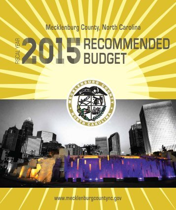2015 Recommended Budget Book 6.2.2014 web