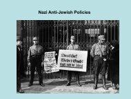Nazi Anti-Jewish Policies - (Campus.fsu.edu)Campus.fsu.edu