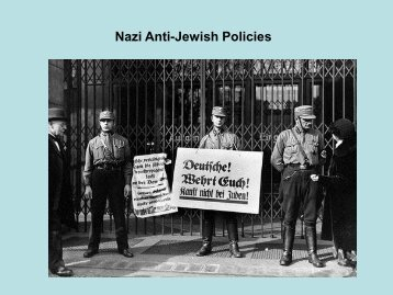 Nazi Anti-Jewish Policies - (Campus.fsu.edu)Campus.fsu.edu