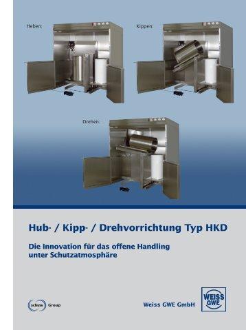 Hub- / Kipp- / Drehvorrichtung Typ HKD