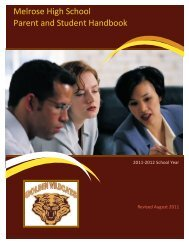 Melrose Student Handbook - Memphis City Schools