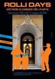 rolli days - sistema turistico locale del genovesato