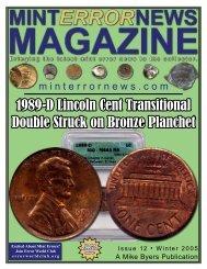 Mint Experimental Rinse Mint Error 2001-P Sacagawea $1 U.S GLOBAL INFO HOLDER
