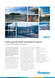 Freitragende Stahl-Schiebetore werra - Schweigert-zaeune.de