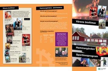 Vårens biofilmer Hammargården Sportlovsprogram