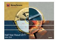 Half Year Results Presentation - WorleyParsons.com