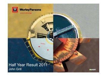 Half Year Results Presentation - WorleyParsons.com