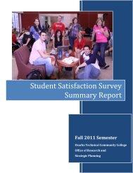 Student Satisfaction Survey Summary Report - Ozarks Technical ...