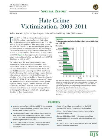 hate crime analysis Hate crime in california  • bureau of criminal information and analysis criminal justice statistics center po box 903427 • sacramento, ca 94203-4270.