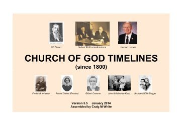 CHURCH OF GOD TIMELINES - Origin of Nations