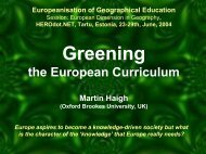Greening European Geography Curricula - HERODOT Network for ...